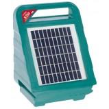 Batteri- och nätdrivet elstängsel AKO Sunpower S 250 (12V) med en solpanel